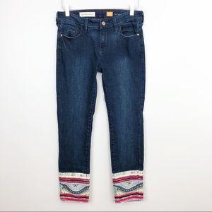 Anthropologie | Pilcro Patchwork Cuff Stet Jeans
